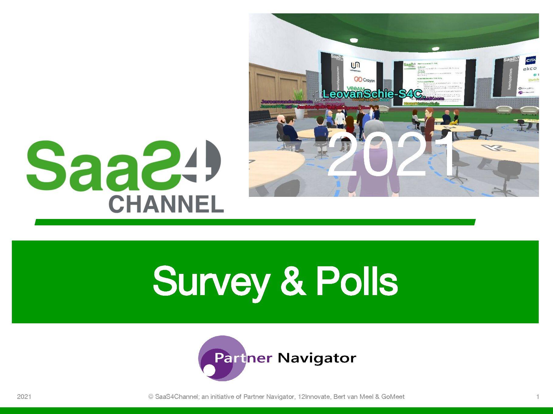 Resultaten van de SaaS4Channel 21 Survey en de Mentimeter Polls
